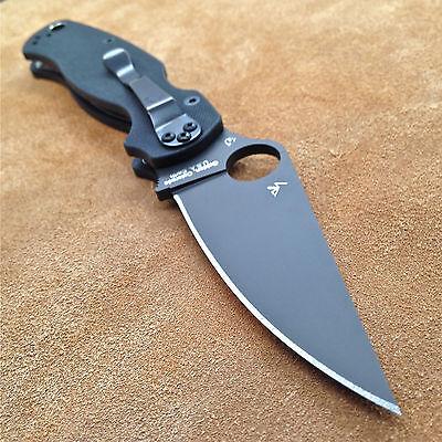 Spyderco Paramilitary 2 C81GPBK2 Plain Edge Black Blade Black G10 Authentic