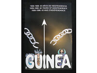 OSPAAAL CUBAN Political Poster GUINEA 40 YEAR OF INDEPENDENCE 1958-98 Original