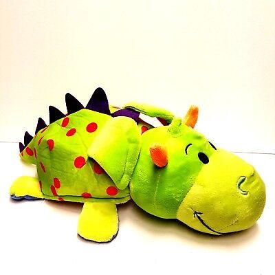 FLIPAZOO Imogen Dragon & Persephone Unicorn 2-in-1 Plush Stuffed Animal EUC