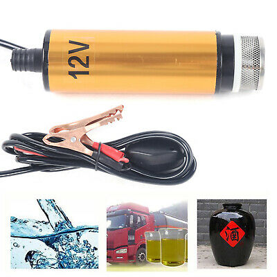 Fit For 12v Electric Submersible Water Oil Diesel Fuel Transfer Submersible Pump