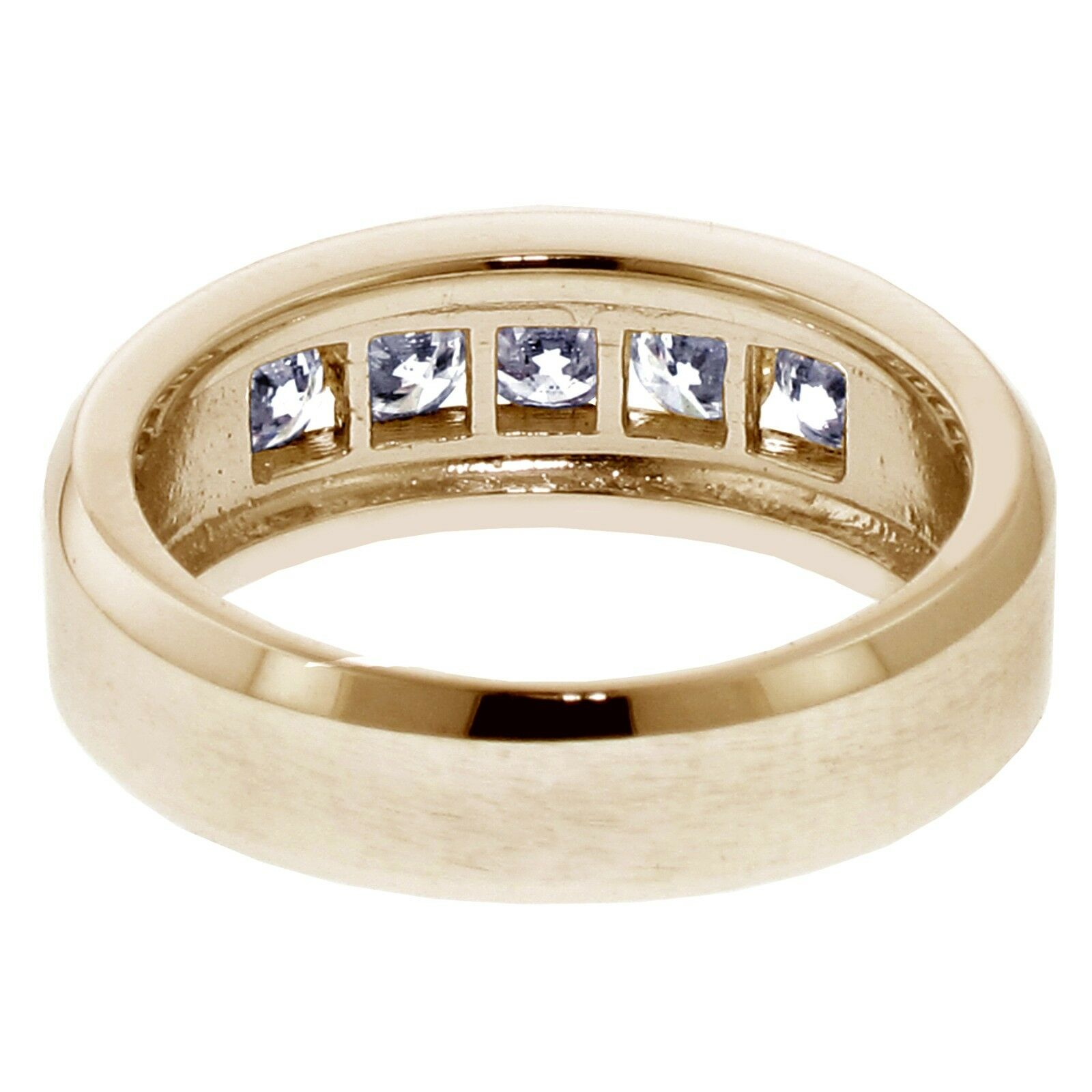 1.00 CT Channel Set Diamond Mens Wedding Ring in 14k Yellow Gold NEW! 5