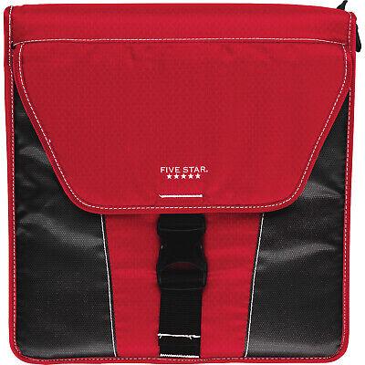 Five Star Vertical Flip Zipper Binder 2 13 12 X12 34 Expandable Pocketsred