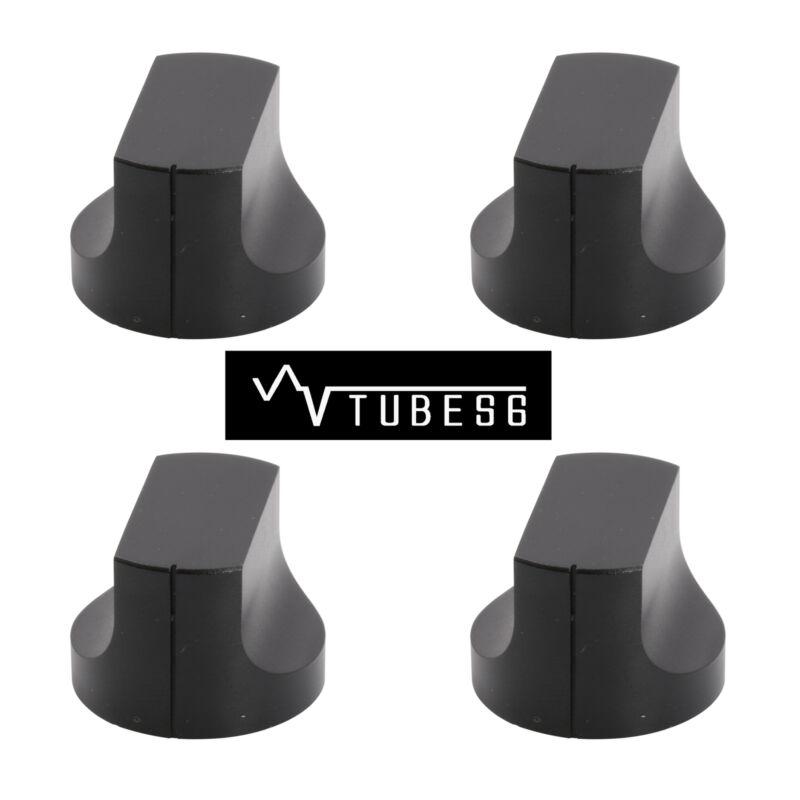 4xAluminium alloy duckbilled Set Pointer Knob Amplifier Sound Black 20x15mm
