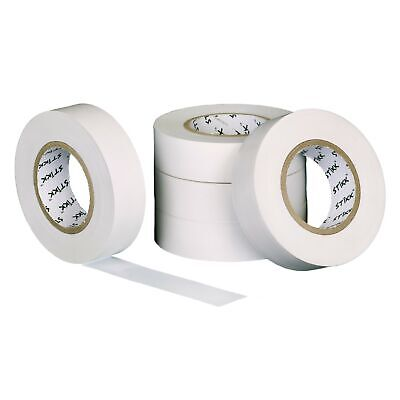 Stikk White Electrical Tape 5 Pack 34 Wide 66 Feet 20 Meters Long