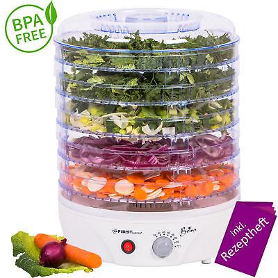 Dörrgerät Temperaturregler 35-70° Dörrautomat Obsttrockner Dörrapparat BPA FREI
