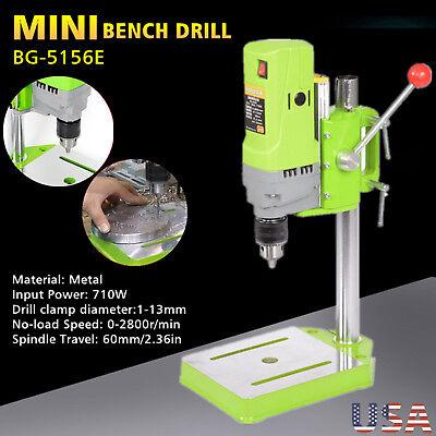 710w Drill Press Workbench Mini Compact Wood Metal Drilling Machine Shop Tool Us