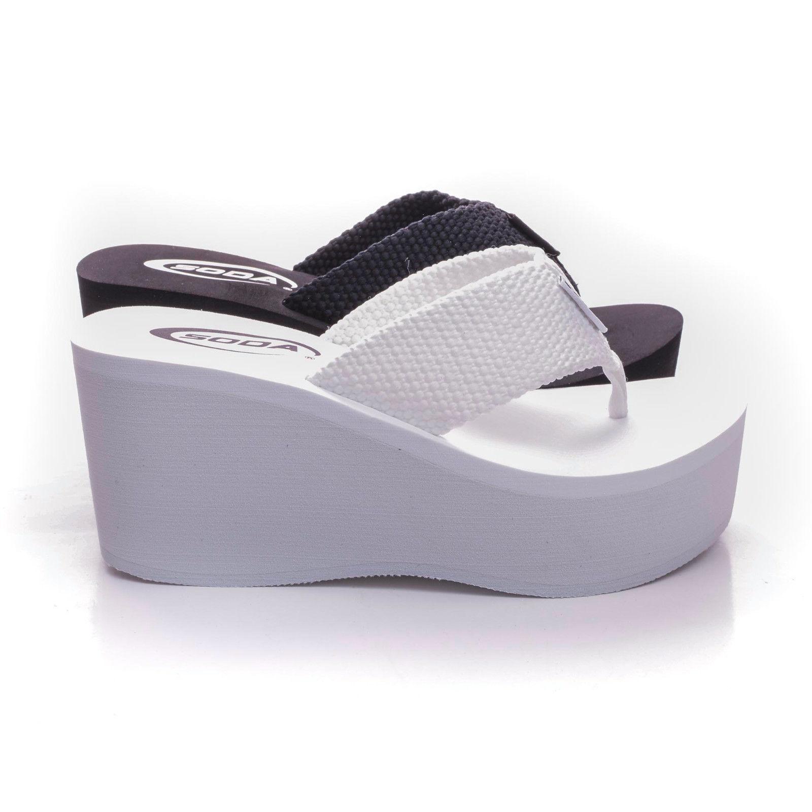 New Womens Sandals Wedge Shoes Platform Heels Thong Flip Flo