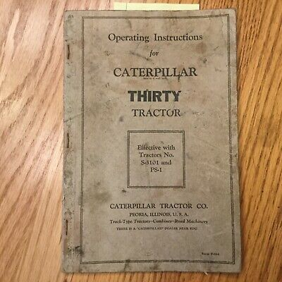 Cat Caterpillar Thirty 30 Operation Maintenance Manual Tractor Guide Book S Ps