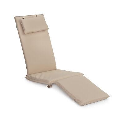Stone Replacement Steamer Chair Cushion Pad Sun Lounger Garden Patio Recliner