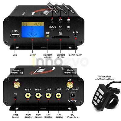 1000W Amp Motorcycle ATV UTV RZR Bluetooth Audio Stereo Radio System Amplifier