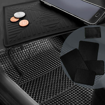 All Weather Heavy Duty Black Floor Mats for Auto Car SUV w Dash Mat