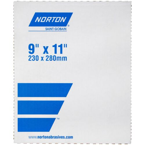 "NORTON 9"" X 11"" BLACK ICE SANDPAPER 600 GRIT (50 PC. BOX)"