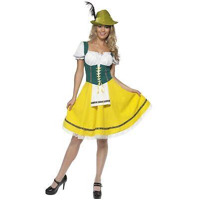 Bavarian Oktoberfest Beer German Festival Womens Ladies Fancy Dress Costume