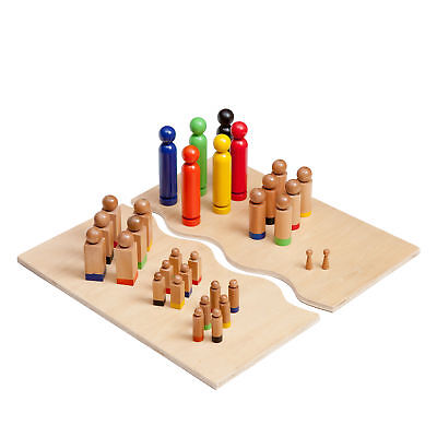 Kenley Familienbrett Systembrett mit Figurenset - 32 Figuren - Holz