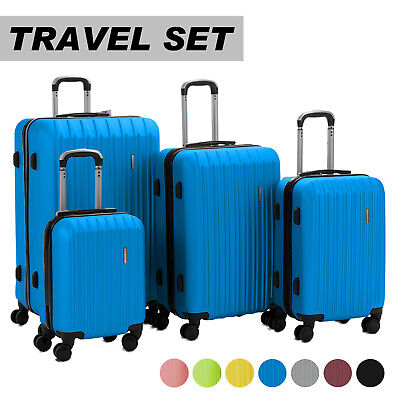 - Luggage Travel Set Bag ABS Trolley 360° Spinner Carry On Suitcase with Lock