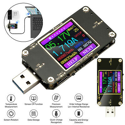 Usb Lcd Digital Power Meter Voltage Capacity Current Tester Ammeter Voltmeter Us