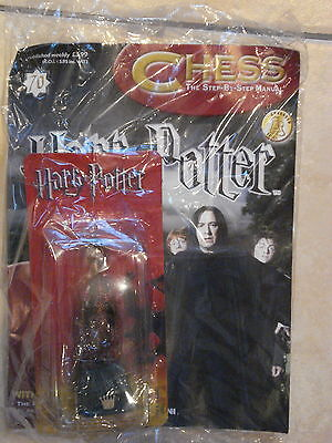 BNIB HARRY POTTER CHESS MAGAZINE NO.70 WITH THE FIRE-BREATHING BLACK QUEEN