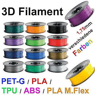 3D Drucker Filament 1kg Rolle PLA TPU ABS PETG MFLEX 1,75mm Printer Spule