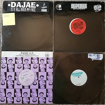 """Deep House Vinyl Record Collection 12"""" Singles Mainly 1990's"""