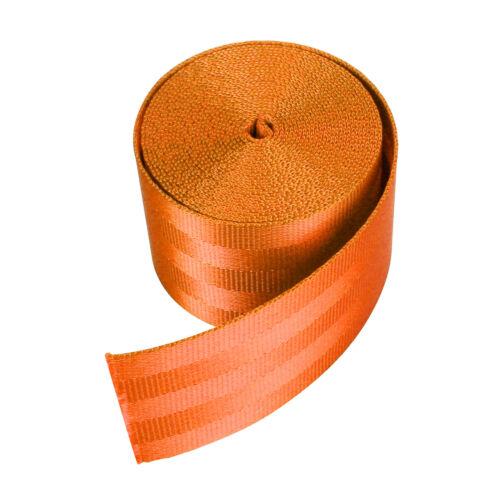 Car Seat-belt Webbing Polyester Retractable Nylon Safety Strap 3.6m Light Blue