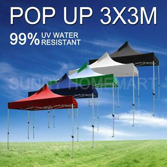 3x3M Heavy Duty POP UP Outdoor Gazebo Folding Tent Market Marquee