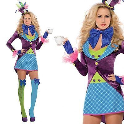 Damen Halloween Alice Im Wunderland Verrückter Hutmacher Zirkusdirektor