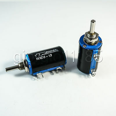 Us Stock 2x 100k Ohm Wxd3-13 Rotary Multi-turn Wirewound Precision Potentiometer
