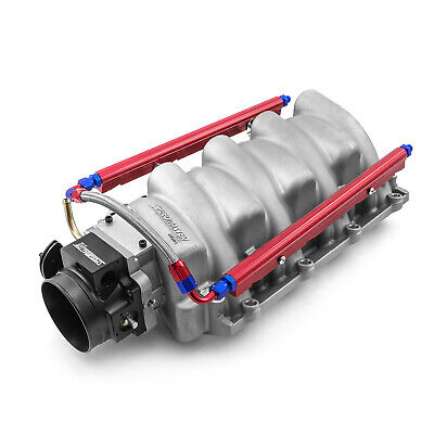 Chevy LS1 LS2 LS6 EFI Intake Manifold Satin  with 92mm Throttle Body