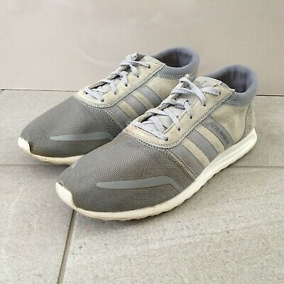 ADIDAS Los Angeles Grey Trainers Mens Size UK 8 Suede & Mesh Upper Lace Up