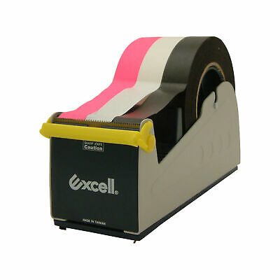 Excell Ex-17 Steel Desk Top Tape Dispenser 3 In Width Padded Foam Bottom
