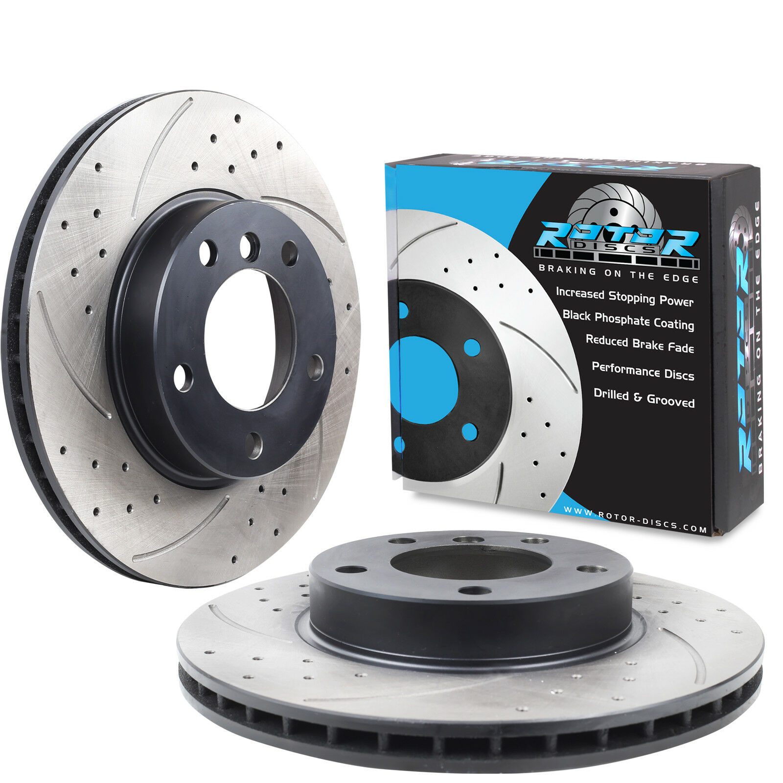 BMW E36 Coupe 318iS 92-99 Front Brake Discs Drilled Grooved Mtec Gold Edition