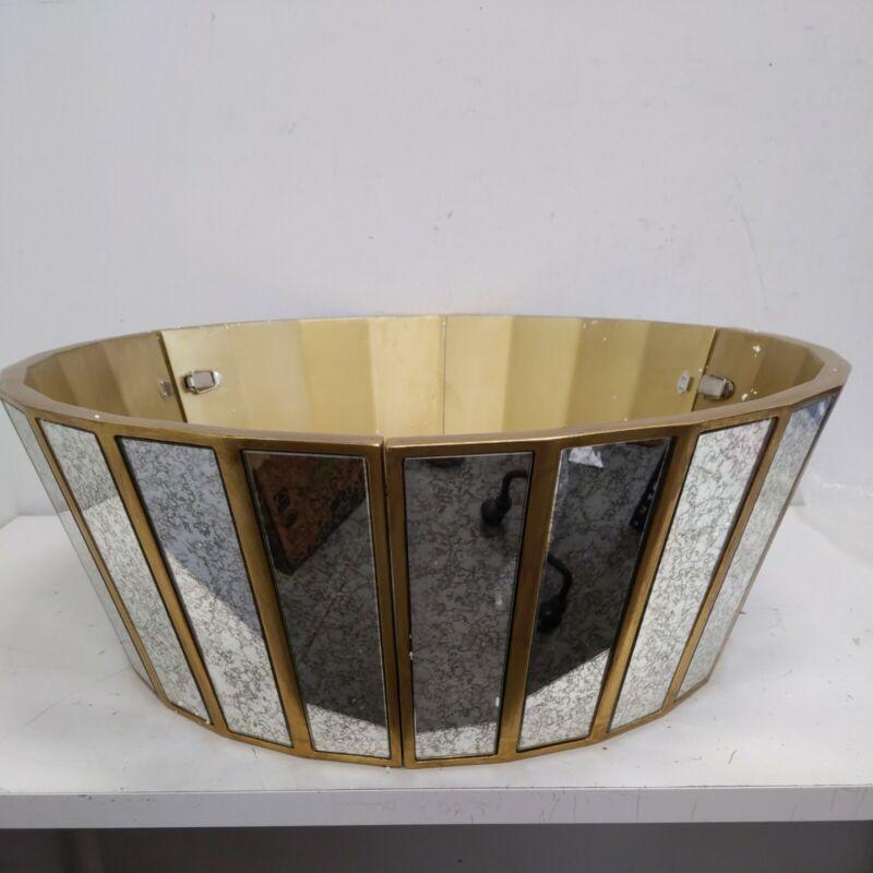 "Balsam Hill, Antique Mirror, Tree Collar  Diameter: 32"" Height: 12"" New (Damage)"