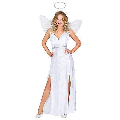 Frauenkostüm Weihnachtsengel Karneval Fastnacht Kostüm Engel Flügel Kleid sexy ()