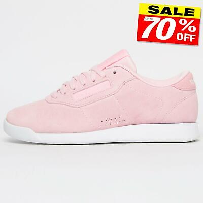 Reebok Classic Princess Suede Leather Women's Girls Casual Retro Trainers Pink
