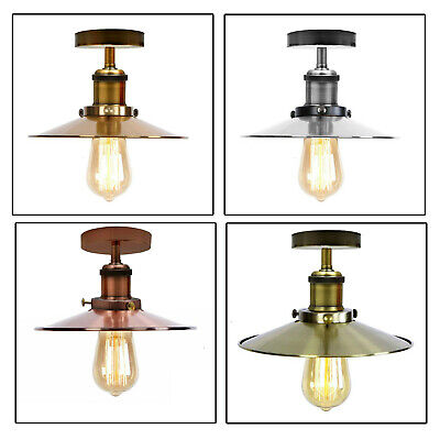 Vintage Flush Mount Ceiling Light Retro Industrial Farmhouse Pendant Light Shade