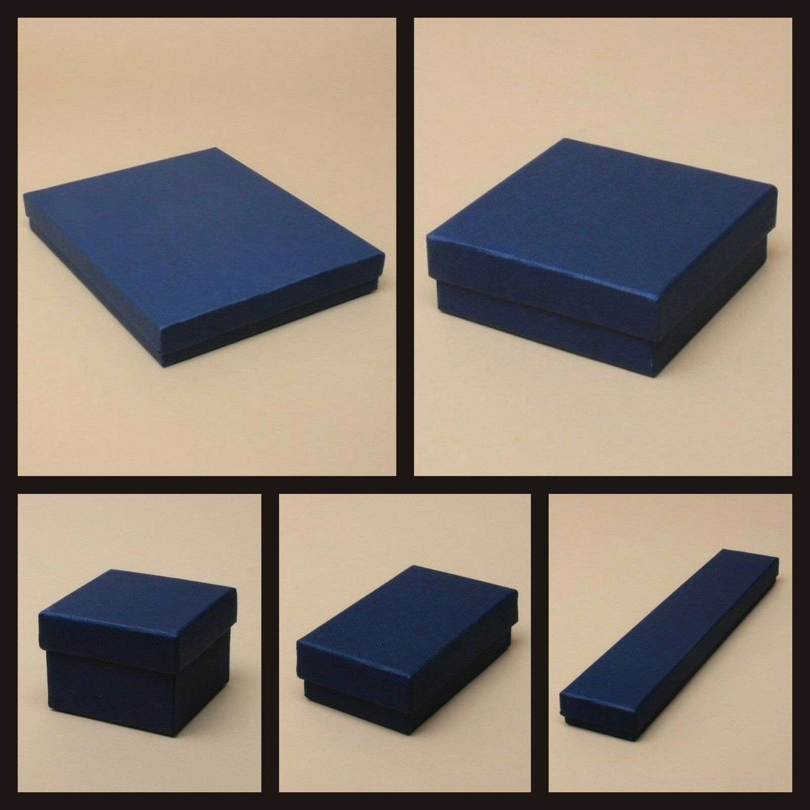 Jewellery - NAVY BLUE JEWELLERY GIFT BOX RING NECKLACE BRACELET EARRINGS WATCH SMALL PRESENT