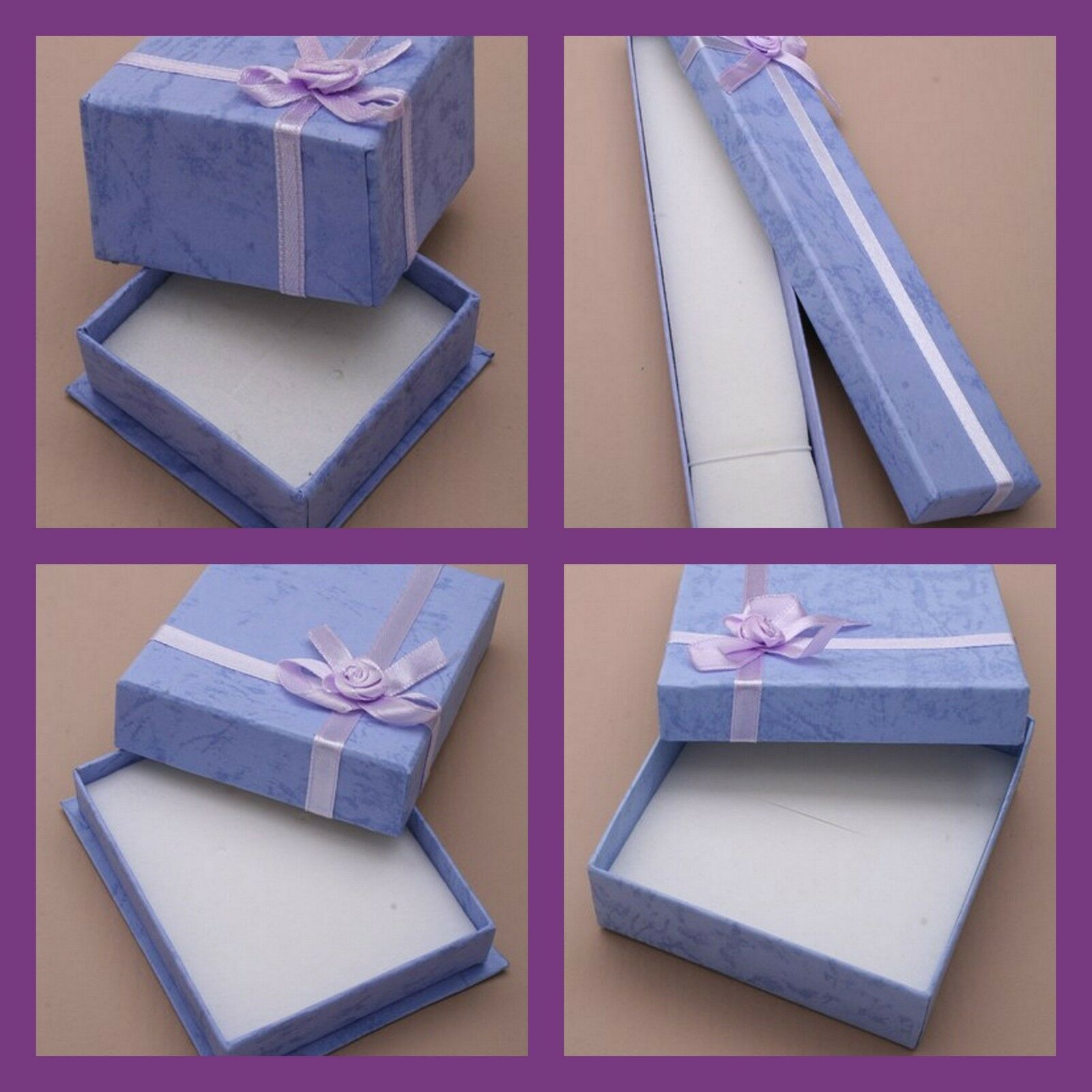 Jewellery - BLUE JEWELLERY GIFT BOXES FOR RING EARRINGS BRACELET NECKLACE CHOICE OF SIZES