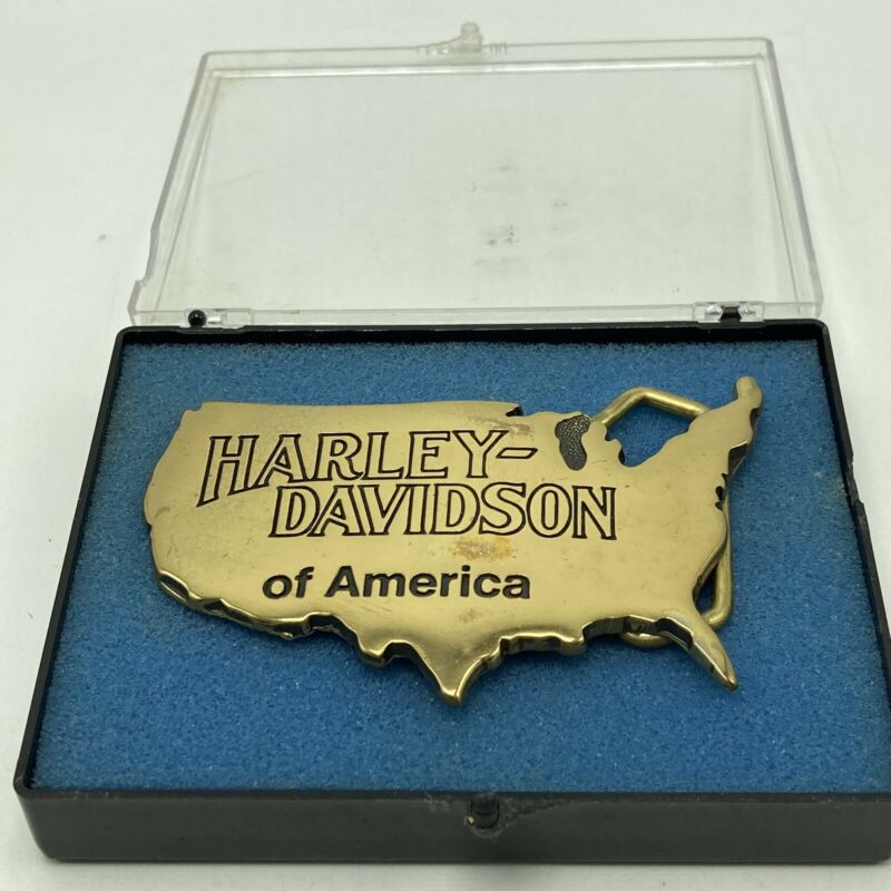 Vintage Harley Davidson of America Belt Buckle Solid Brass USA Motorcycle