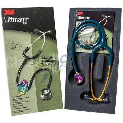Littmann Classic Ii Pediatric Stethoscope 28 Rainbow Chestpiece Caribean Blue