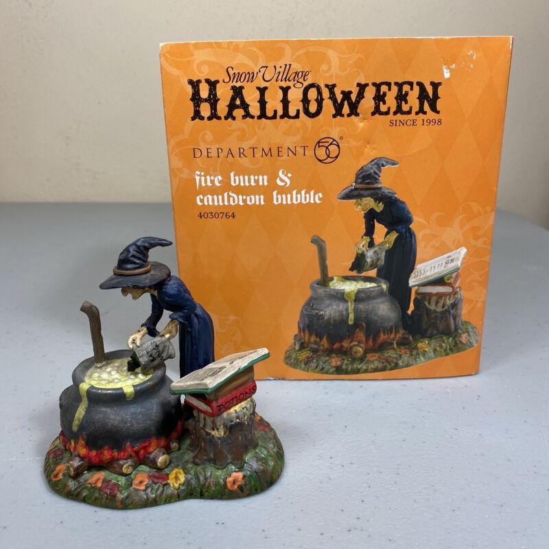 Damaged Read Dept 56 Halloween Accessories Fire Burn & Cauldron Bubble 4030764