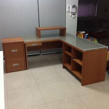 Study/Office desk with return/filing cabinet/montior stand+Bonus* Kingsgrove Canterbury Area Preview