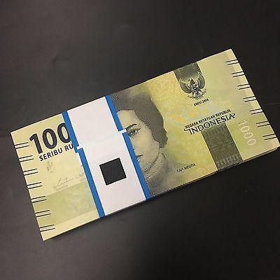 Bundle Lot 100 PCS, Indonesia 1000 Rupiah, 2016/2017, P-NEW, UNC>New Design