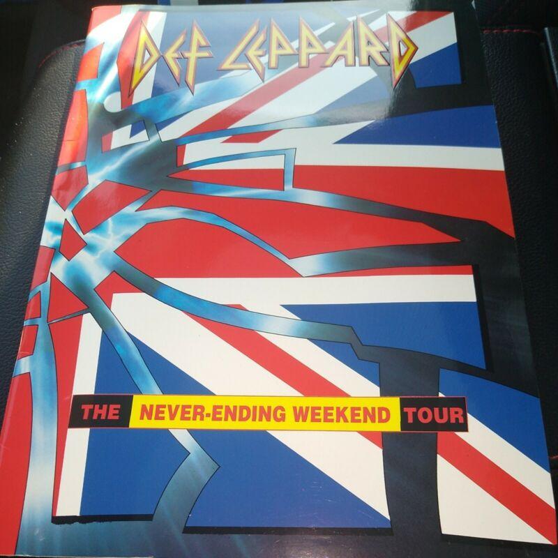 """ORIGINAL DEF LEPPARD PROGRAM TOUR BOOK """"THE NEVER-ENDNG WEEKEND"""" 1993 WORLD TOUR"""