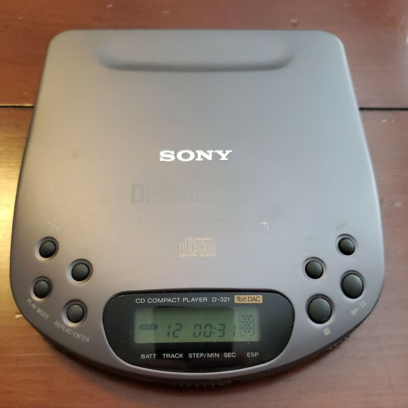 Collectible Vintage Portable CD Player Discman ESP Sony D-321 Tested Works