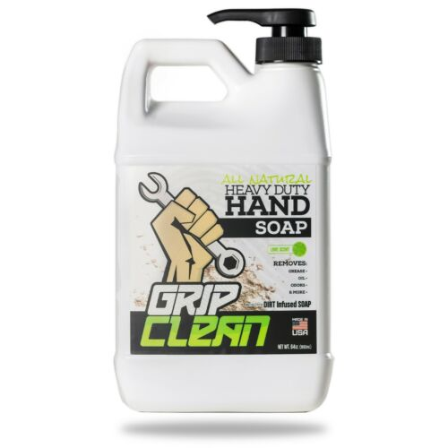 Grip Clean | Heavy Duty Mechanic Hand Cleaner - Dirt-Infused Soap, Lime Scented
