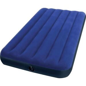 fca9e4e9587 Intex Twin Size Classic Downy Inflatable Air Bed Mattress 68757WA (Blue)