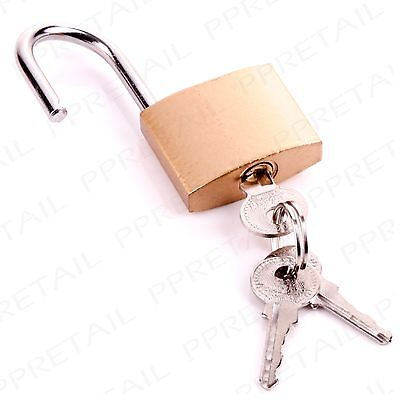 40mm PADLOCK + 3 SECURITY LOCKS Brass Plated Travel/Luggage/Rucksack Safety Lock