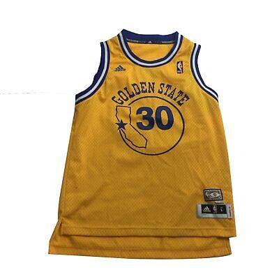 Adidas NBA Golden State Warriors Stephen Curry #30 Hardwood Classic Jersey Sz L