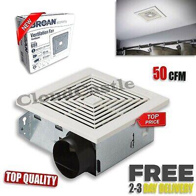 - Bathroom Ventilation Fan Ceiling and Wall Mount 50 CFM Bath Air Vent