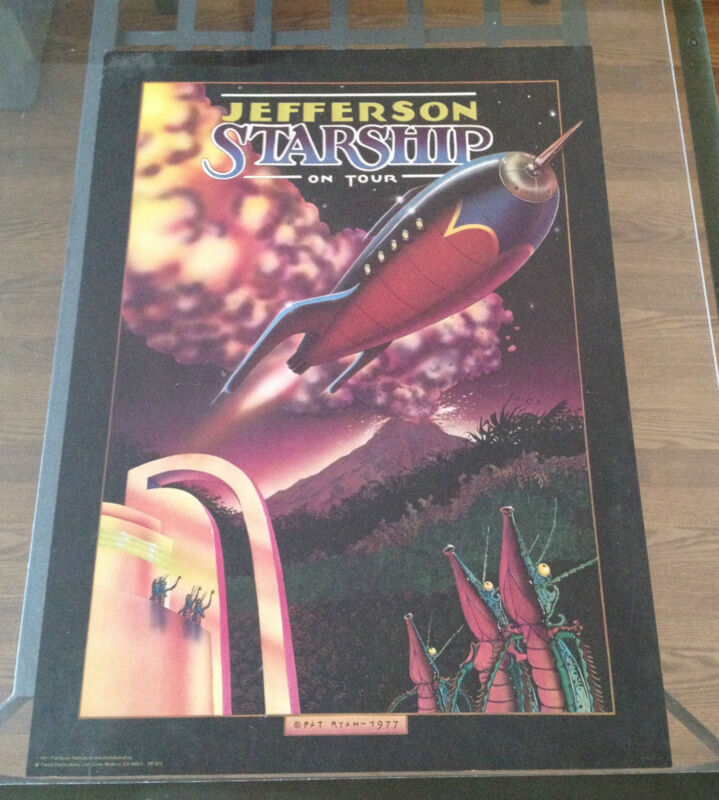 Vintage Portal Publications Litho Jefferson Starship 1977 Tour Promo Ad Pat Ryan